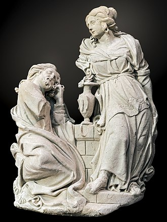 Samaritan woman at the well - Image: Augustins Jésus et la Samaritaine Gervais Drouet RA 516