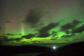 Aurora borealis over Muckle Flugga (geograph 3178463).jpg