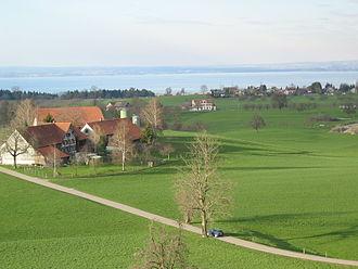 Wittenbach - Image: Aussicht vom Schloss Dottenwil