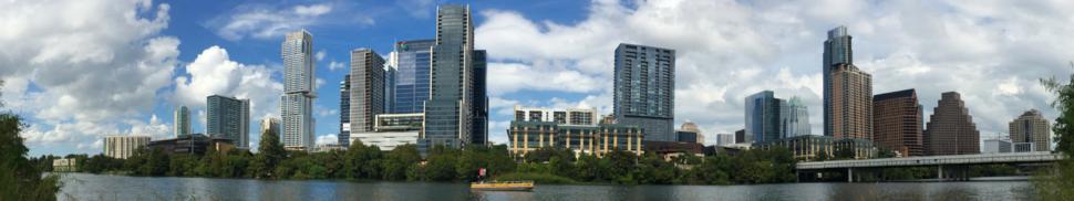 Panorama of Austin skyline, 2018