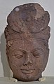 Avalokitesvara Head - Sandstone - Circa 12th Century AD - Sanchi - Archaeological Museum - Sanchi - Madhya Pradesh - Indian Buddhist Art - Exhibition - Indian Museum - Kolkata 2012-12-21 2294.JPG