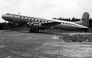 Avro Tudor - Tudor 2 of Air Charter Limited at London Stansted Airport in 1955