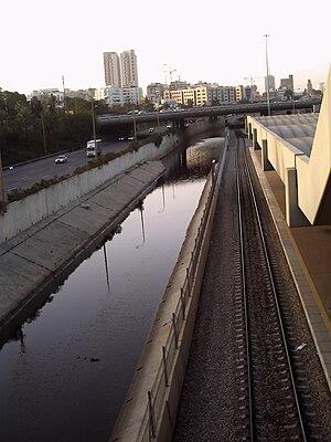 Ayalon River - The Ayalon River between Tel Aviv and Ramat Gan