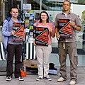 BBC Strike Picket outside the Forum, Norwich.jpg