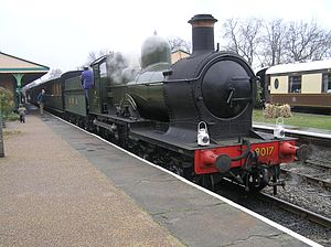 Horsted Keynes - GWR 4-4-0 Dukedog Earl of Berkeley at Horsted Keynes Station on the Bluebell Railway