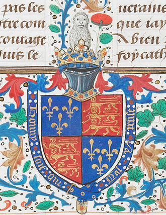 Edward IV of England - Coat of arms of Edward IV, from one of the British Library's royal manuscripts