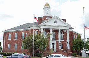 National Register of Historic Places listings in Bacon County, Georgia - Image: Bacon County Courthouse, Alma, GA, US