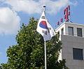Bad Godesberg Godesberger Allee 142–148 Botschaft Südkorea Flagge.jpg