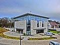 Bad Oeynhausen. Ein würfelförmiger Bau mit vielen runden Elementen – so präsentiert sich das neue Gemeindezentrum der Neuapostolischen Kirche in Bad Oeynhausen. - panoramio.jpg