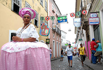 Afro-Brazilian history - The typical dress of women from Bahia has clear Muslim influences.