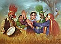 Baisakhi is a spring harvest festival for Sikhs and Hindus. It marks the Sikh new year and commemorates the formation of Khalsa panth of warriors under Guru Gobind Singh in 1699 by Harl.jpg