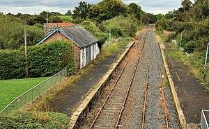 Lisburn–Antrim line - The closed station at Ballinderry