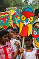 Bangladeshi children with Pohela Boishakh placard at Pohela Boishakh celebration (01).jpg
