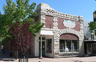National Register of Historic Places listings in Washoe County, Nevada - Image: Bank of Sparks from SW 1