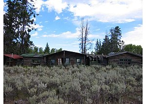 National Register of Historic Places listings in Teton County, Wyoming - Image: Bar B C Ranch Main Cabin