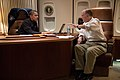 Barack Obama with Tom Donilon on Air Force One.jpg