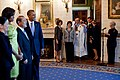 Barack and Michelle Obama greet ambassadors and guests during a Diplomatic Corps Reception, 2010.jpg