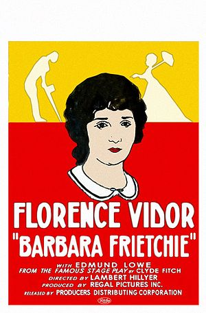 Barbara Frietchie (film) - The 1924 film poster.