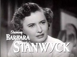 Barbara Stanwyck in Clash by Night trailer.JPG
