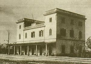 Railway stations in Libya - Barce Railway station in 1930