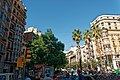 Barcelona - Passeig de Gràcia - View NW towards Carrer Gran de Gràcia I.jpg