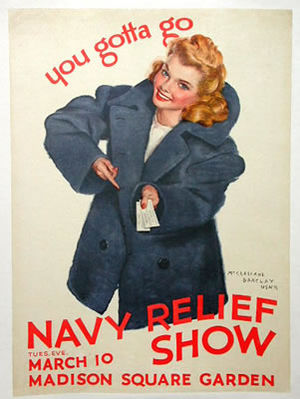 McClelland Barclay - Navy Relief show poster by McClelland Barclay (1943).