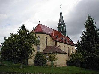 Helmstadt-Bargen - Image: Bargen kath kirche 1904
