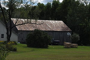 National Register of Historic Places listings in Franklin County, Maine - Image: Barn on Lot 8, Range G, Freeman Plantation, Maine