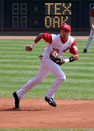 Philadelphia Phillies all-time roster (M) - Image: Baseball shortstop 2004