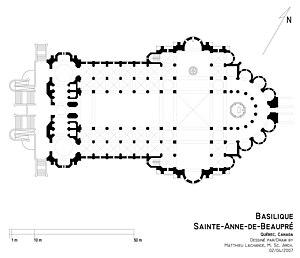 Basilica of Sainte-Anne-de-Beaupré - Basilica plan