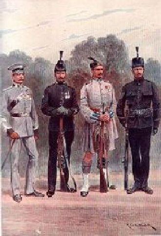 London Regiment (1908–1938) - Battalions of the London Regiment early 1900s by Richard Caton Woodville (1856–1927)