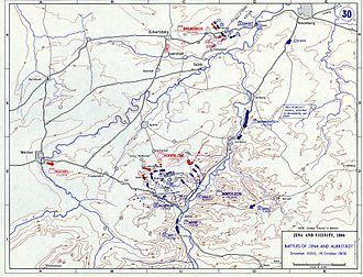 Battle of Jena–Auerstedt - Situation – 10 a.m., 14 October