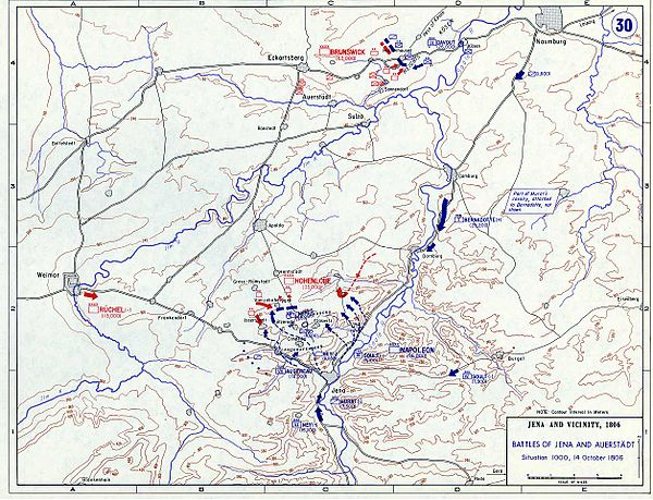 Situation - 10 a.m., 14 October Battle of Jena-Auerstedt - Map02.jpg