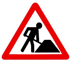UK roadworks sign. In other European countries...