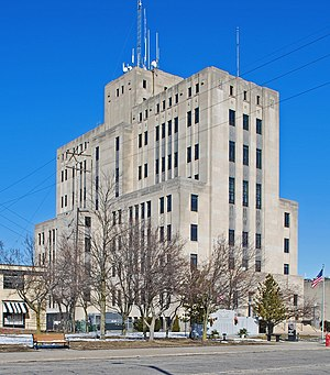 National Register of Historic Places listings in Bay County, Michigan - Image: Bay County Building Bay City MI