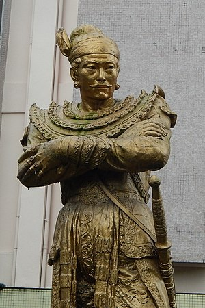 First Toungoo Empire - Statue of King Bayinnaung in front of the National Museum in Yangon