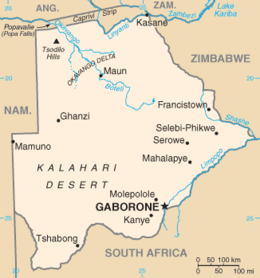 Botswana - Mappa