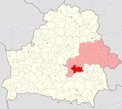 Location of Babruysk District
