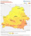 Belarus PVOUT Photovoltaic-power-potential-map lang-RU GlobalSolarAtlas World-Bank-Esmap-Solargis.png