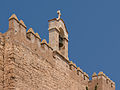 Bell gable and wall, Alcazaba, Almeria, Spain.jpg