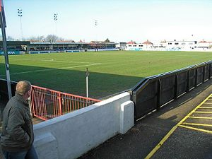 Das Corbett Sports Stadium in Rhyl