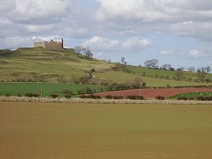 Mariotta Haliburton - Hume Castle where Mariotta faced the English army.