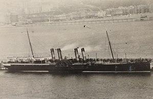 SS Ben-my-Chree (1875) - Image: Ben my Chree (II) berthed at the Victoria Pier