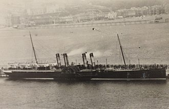 SS Ben-my-Chree (1875) - Image: Ben my Chree (II) berthed at the Victoria Pier