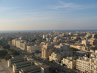 Benghazi City in Cyrenaica, Libya