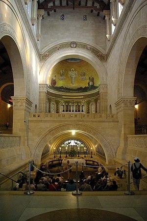 English: Church of Transfiguration, Mount Tabo...