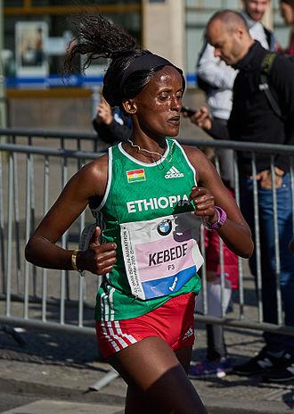Aberu Kebede - Aberu at the 2015 Berlin Marathon