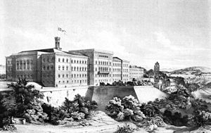 1857 in Switzerland - The first Federal Palace in 1857.