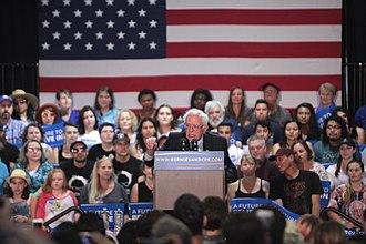 Political positions of Bernie Sanders - Bernie Sanders at a March 2016 rally in Phoenix, Arizona.
