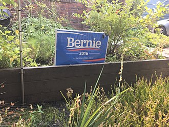 Lawn sign - Lawn sign supporting Bernie Sanders' 2016 presidential campaign, left out after the election